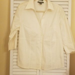 Style and Co Women's White Blouse